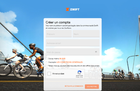 Inscription zwift