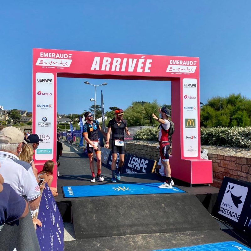 Triathlon emeraude arrivée